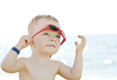 Caucasian boy with sunglasses Stock Photography