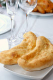 Caucasian bread. Just backing caucasian bread on table Royalty Free Stock Photos