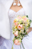 Caucasian bride close-up Royalty Free Stock Photo