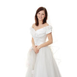 Caucasian bride in long dress Stock Image