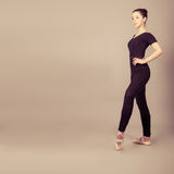 caucasian brunette ballerina girl Stock Photography