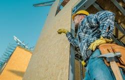 Caucasian Building Contractor stock photo