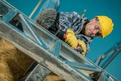 Caucasian Building Worker stock photos