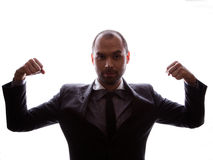 Caucasian business man silhouette Royalty Free Stock Image