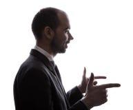 Caucasian business man silhouette Stock Image