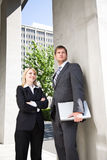 Caucasian business people Stock Images