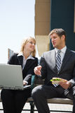 Caucasian business people having discussion Royalty Free Stock Photography