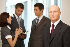 Caucasian business people in office Stock Images