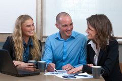 Caucasian business power team meeting Stock Image