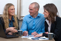 Caucasian business power team meeting Stock Images