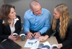 Caucasian business power team meeting Stock Image