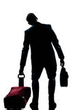 Caucasian business traveler man tired Royalty Free Stock Image