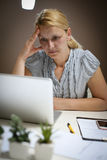 Caucasian business woman having stress.. Stock Photography