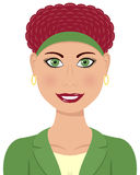 Caucasian Business Woman Red Hair Royalty Free Stock Image