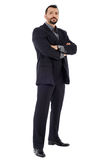 Caucasian businessman full length Royalty Free Stock Image