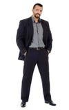 Caucasian businessman full length Royalty Free Stock Photo