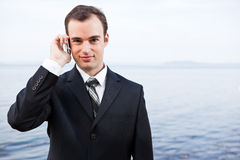 Caucasian businessman on the phone Stock Photography