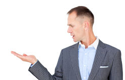 Caucasian businessman presenting Stock Photos