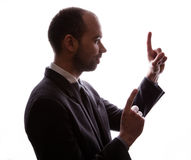 Caucasian businessman silhouette Stock Images