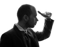 Caucasian businessman silhouette Stock Photography