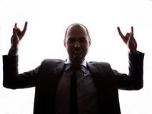Caucasian businessman silhouette Stock Photo
