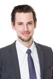 Caucasian businessman smile Stock Image