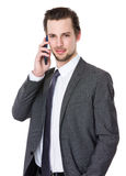 Caucasian businessman talk to cellphone Stock Image