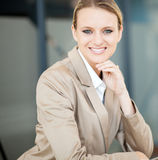Caucasian businesswoman closeup Royalty Free Stock Photos