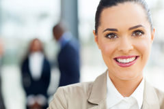 Caucasian businesswoman closeup Stock Images