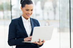 Caucasian businesswoman laptop Stock Photo