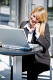 Caucasian businesswoman on the phone Stock Image