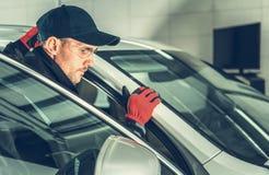 Caucasian Car Mechanic royalty free stock photos