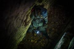Caucasian Caves Explorer stock image