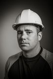 Caucasian contractor male 40 years old shot in Stock Photography