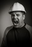 Caucasian contractor male 40 years old shot in Royalty Free Stock Image