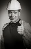 Caucasian contractor male 40 years old shot in Stock Photos