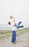 Caucasian couple on the beach Stock Photography