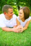 Caucasian Couple Holding Hand Royalty Free Stock Photo