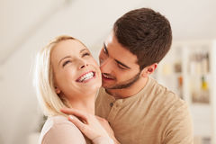 Caucasian Couple Laughing Stock Photography