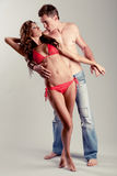 Caucasian couple posing Royalty Free Stock Photos