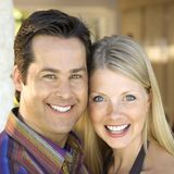 Caucasian couple smiling. Royalty Free Stock Photos