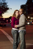 Caucasian couple in street Stock Photography