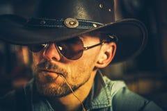 Caucasian Cowboy Portrait royalty free stock images