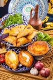 Caucasian cuisine from stove Stock Image