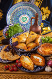 Caucasian cuisine from stove Stock Images