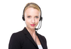 Caucasian customer services operator Royalty Free Stock Photo
