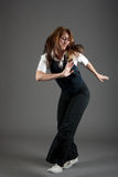 caucasian dansarekvinnligjazz Arkivfoto