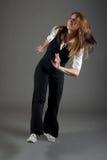 caucasian dansarekvinnligjazz Arkivfoton