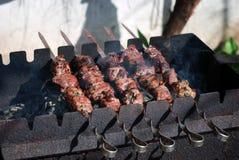 Caucasian della carne della griglia Immagini Stock