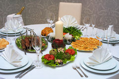 Caucasian dinner Stock Images